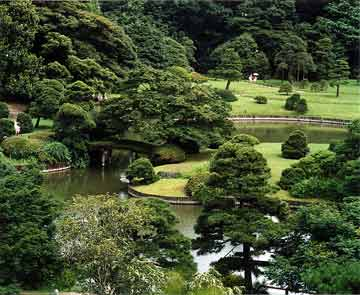 Carefully Selected Trees And Shrubs, Moss, Rocks, Pebbles And Water Are The  Main Elements Of A Japanese Garden. Japanese Gardens Tend To Be Very Green.