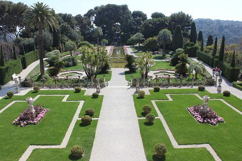 Garden of the Villa Ephrussi; a beautiful garden on the Cote d\'Azur