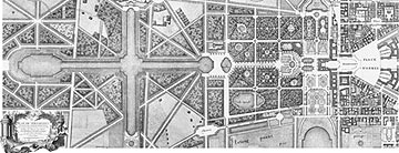 Plan of the Gardens of Versailles