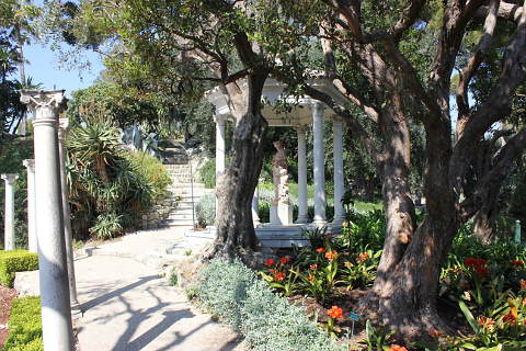 Garden of the Villa Ephrussi; a beautiful garden on the Cote d\'Azur