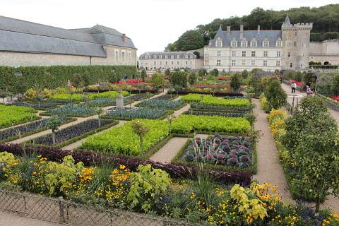 Gardens of the Chateau de Villandry; a magnificent Loire valley garden